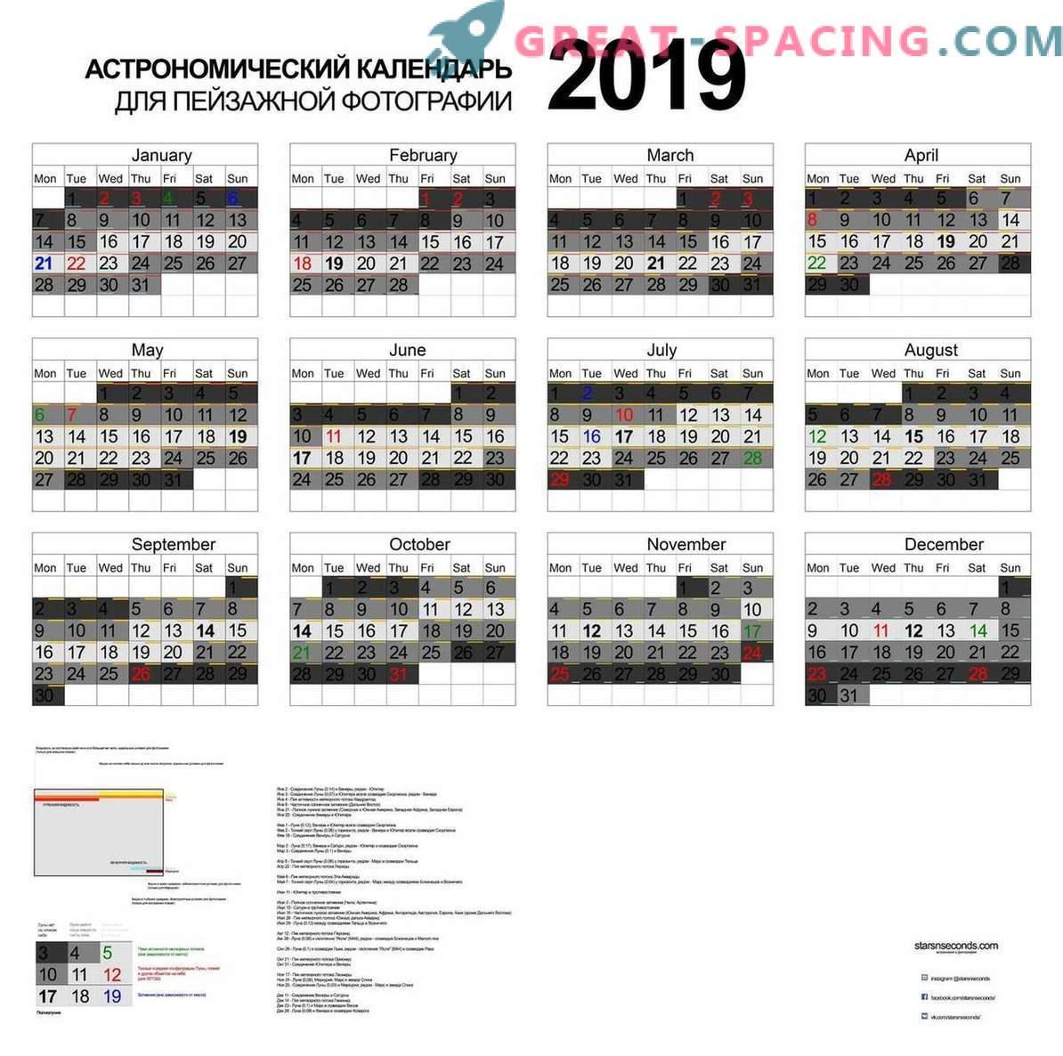 Astronomski koledar 2019