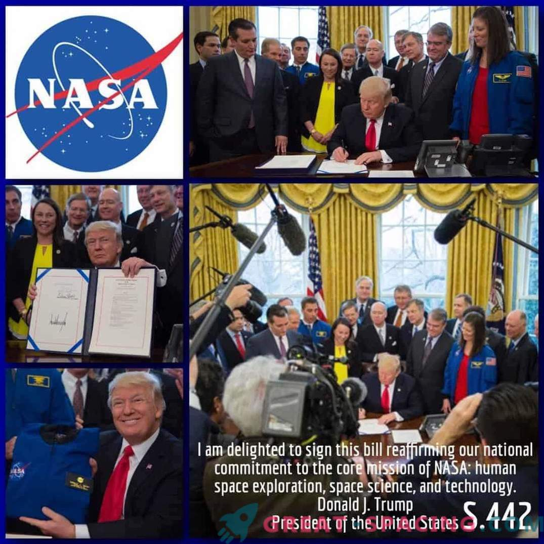 Trump meni, da je človeška misija na Marsu prednostna naloga