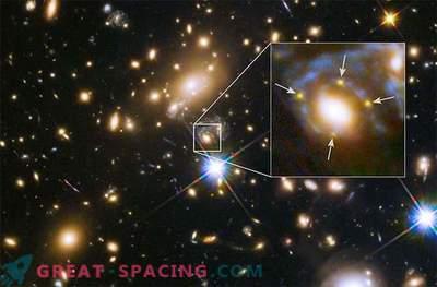 Hubble je pokazal štiri odseke starodavne supernove