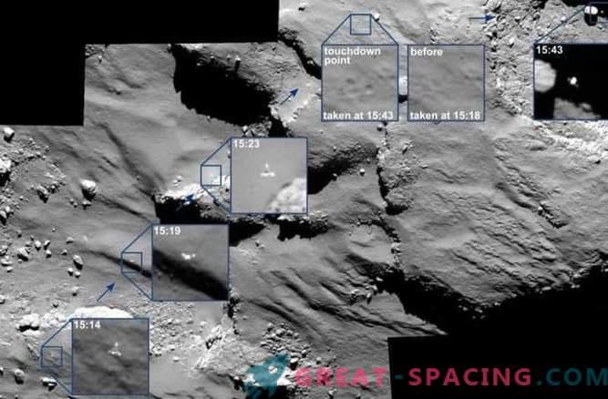 Rosetta ujame Philovo potovanje s kometom.
