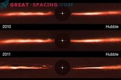 Ti skrivnostni utripajoči odsev, ki se giblje okoli zvezd, ne podpira razlage