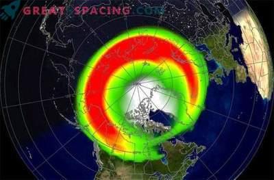 Močno sončno nevihto je doseglo Zemljino magnetno polje