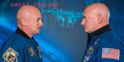 How does space affect the body? Demonstrate on the twin astronauts