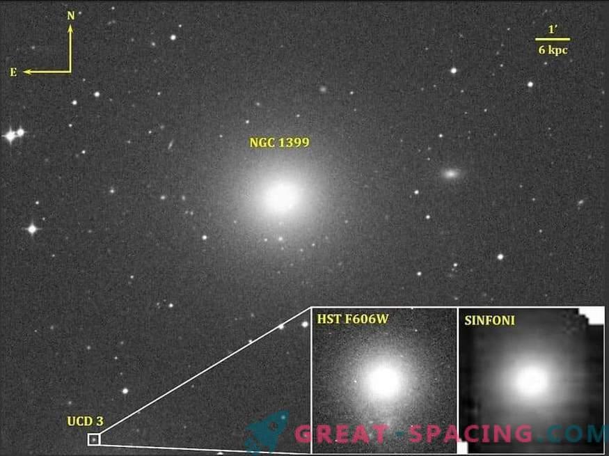 Supermasivna črna luknja v ultrakompaktni pritlični galaksiji