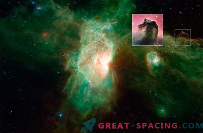 Nova podoba meglice Plamen, ki jo je izdelal Spitzerjev teleskop