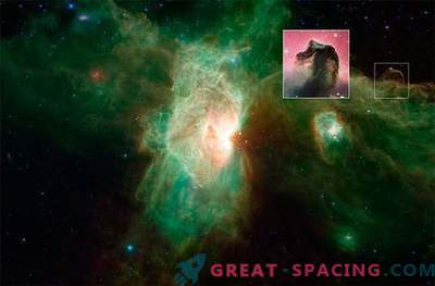 New image of the Flame Nebula, made by Spitzer telescope