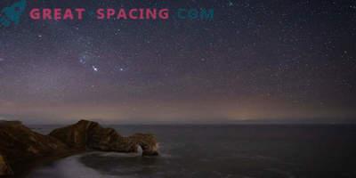 Comet 46P / Virtanen v nočnem nebu
