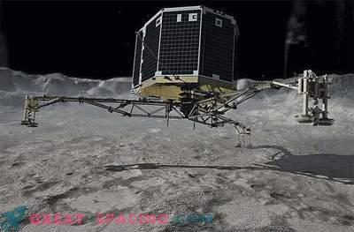 Poslušajte zvok modula Phil, ki se dotika kometa