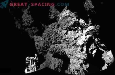 Phil modul raziskuje komet po trdem pristanku.