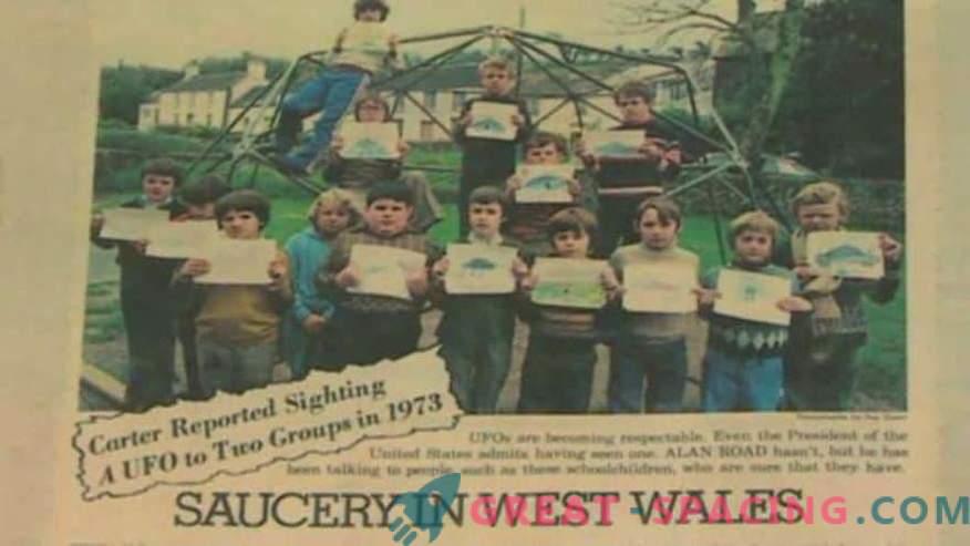 Nesreča v Walesu - 1977. Učenci so prepričani, da so videli tuje ladje