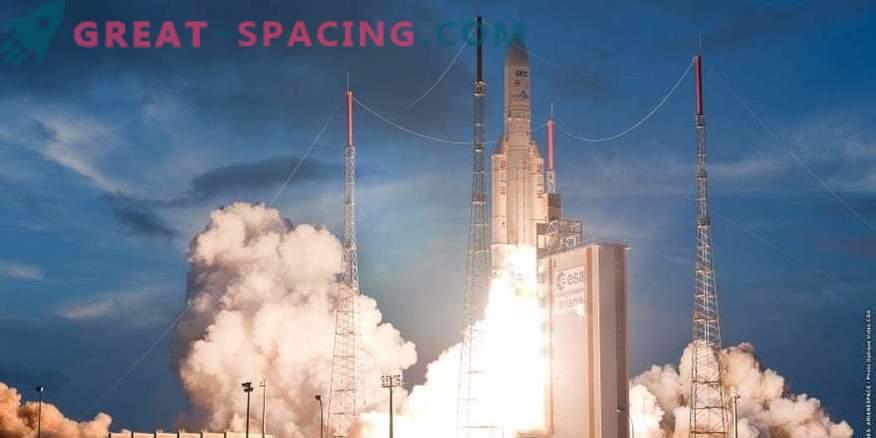Raketa Ariane je sprožila satelit v orbito za Indijo
