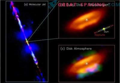 Prebiotična atmosfera je bila najdena na akrecijskem disku otrokove zvezde.