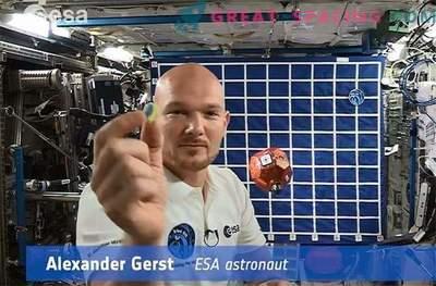 Astronavt, modeliran s modulom Phil, pristanek na kometu