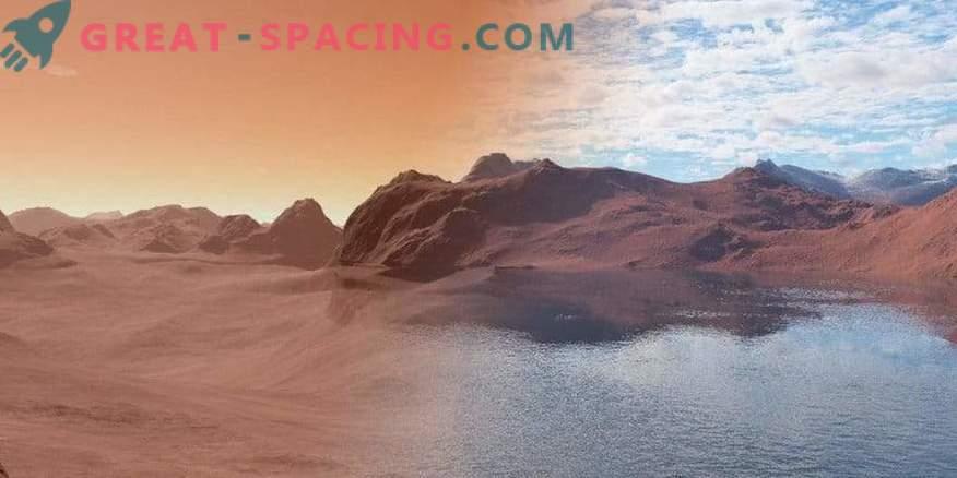 Voda na Marsu se absorbira v skladu z načelom gobice