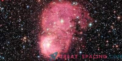 Praznična žareča galaktična meglica za Hubble
