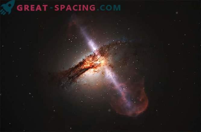 Galaksije zaradi trčenja lahko izbruhnejo z močnimi curki