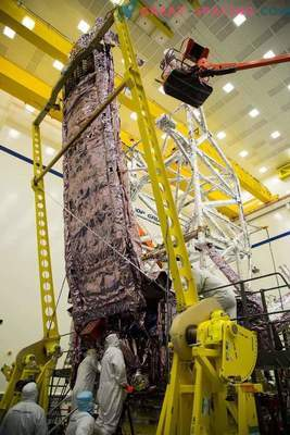Zaščitna plast za teleskop Jamesa Webba
