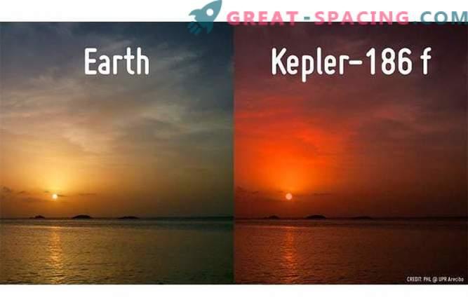Sonce na novo odkritega planeta »zemeljskega tipa« se koplje ob sončnem zahodu v oceanu