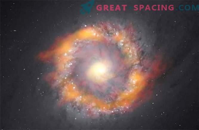 Kako določiti težo črne luknje - pošast spiralne galaksije?