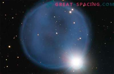 Anillo de diamante en el espacio