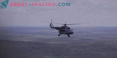 Ruska kapsula z 3 astronavti, ki so pristali v Kazahstanu