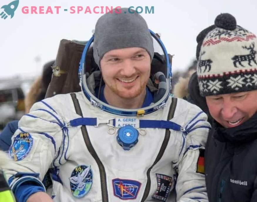 Astronavti, ki so se vrnili z ISS na Zemljo