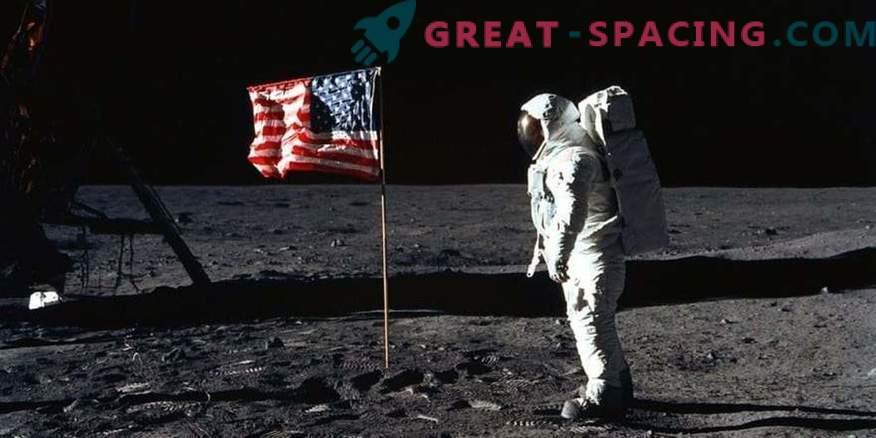 Kjer je NASA-in astronavt pristal na Luni, je izginila