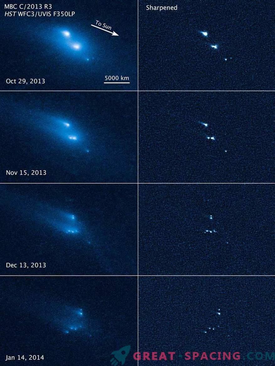 Hubble je bil priča skrivnostnemu propadu asteroida