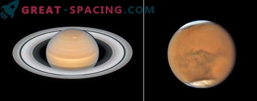 Nove podobe Marsa in Saturna iz Hubbla