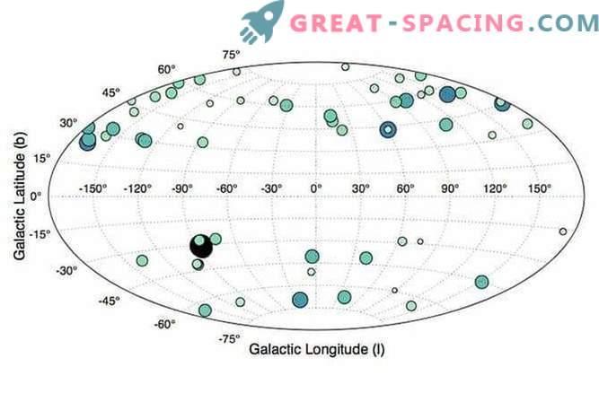 Zemljevid galaksije - rdeči škratki Rimske ceste