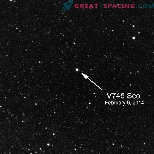Izjemna opažanja v V745 Scorpio