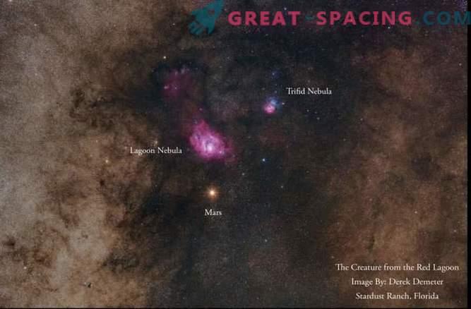 Mars in Nebulae v fotografiranju osupljivega nočnega neba