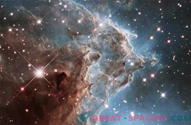 Vpliv zvezdnih vetrov na meglico glave opic