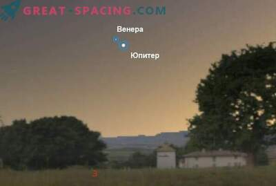Konjunkcija Venere in Jupitra 30. junija 2015