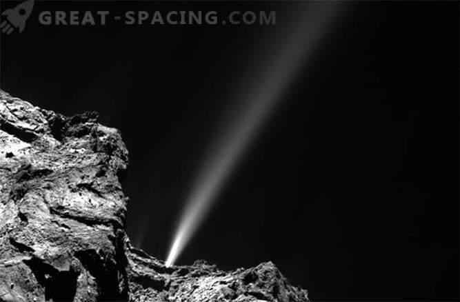 Comet Rosetta je danes najsvetlejši jet.