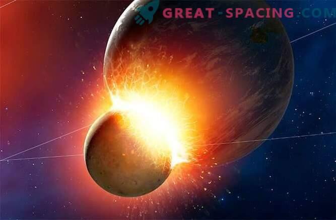 Do trka z zemeljskim planetom je prišlo na luni